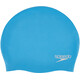 speedo Plain Moulded Silicone Cap Windsor Blue